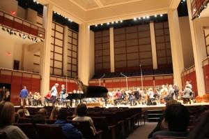 Symphony rehearsal