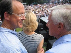 Dean Smith speaks with Erskine Bowles