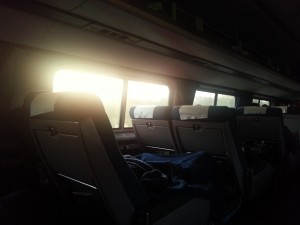 Waking up to a Florida sunrise on Amtrak's southbound Silver Star