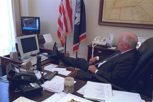 Dick Cheney kicking back on Sept. 11, 2001.