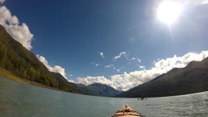 Kayaking at Eklutna Lake