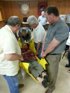 Oakwood CERT members learn victim extraction techniques