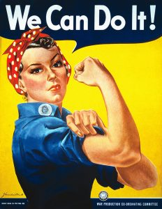 Does Rosie the Riveter have a doppelganger at Seaboard Station?