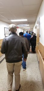 The vaccination line at Durham VA