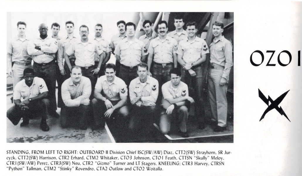 OS Division, USS ELLIOT, fall 1991